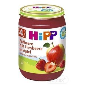 HiPP Príkrm BIO Jablka s jahodami, malinami ovocný (od ukonč. 4. mesiaca) 1x190 g