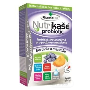 Nutrikaša probiotic - čučoriedka a marhuľa 3×60 g, bez gluténu a laktózy