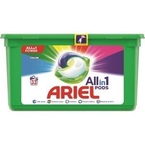 Ariel All In 1 Pods Color Gélové Kapsuly Na Pranie 33 PD