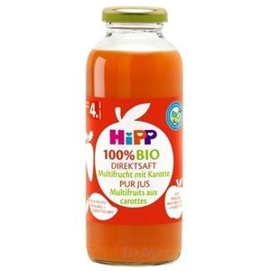HiPP 100 % BIO Ovocna šťava s karotkou (od ukonč. 4. mesiaca) 1x330 ml