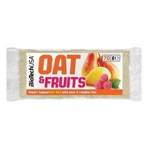 BioTech USA OAT & FRUITS 70g - hruška-malina-jogurt
