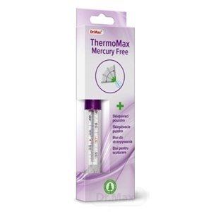 Dr.Max ThermoMax Mercury Free (inov. 2019) teplomer lekársky sklenený v sklepávacom puzdre 1x1 ks