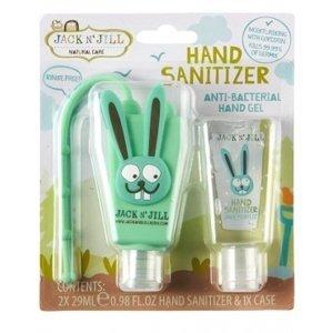 JACK N´JILL Antibakteriálny gél na ruky pre deti s puzdrom ZAJKO 2x29 ml