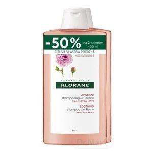 KLORANE SHAMPOOING à la Pivoine DUO šampón na citlivú a podráždenú vlasovú pokožku (zľava na 2.produkt) 2x400 ml
