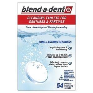 blend-a-dent ČISTIACE TABLETY na zubné protézy 1x54 ks
