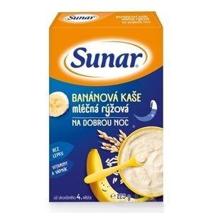 Sunar BANÁNOVÁ KAŠA mliečna ryžová NA DOBRÚ NOC 225g (od ukonč. 4. mesiaca)