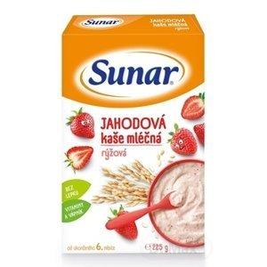 Sunar JAHODOVÁ KAŠA mliečna ryžová 225g (od ukonč. 6. mesiaca)