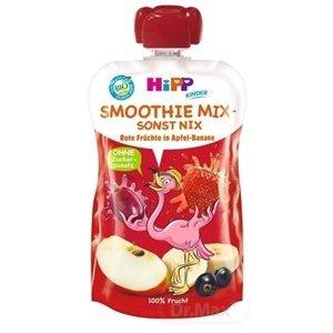 HiPP BIO Smoothie Jablko Banán Červené ovocie kapsička (od 1. roku) ovocný príkrm 1x120 ml