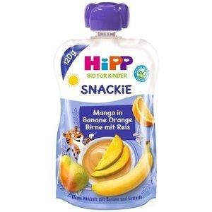 HiPP BIO KINDER Banán Pomaranč Hruška Mango Ryža kapsička (od 1. roku) ovocno-obilný príkrm 1x120 g