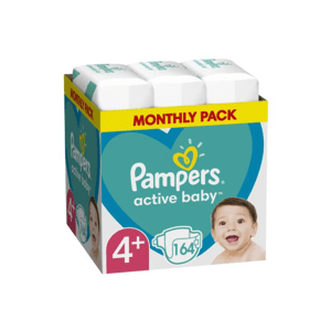 PAMPERS ACTIVE BABY MSB S4+ 164KS