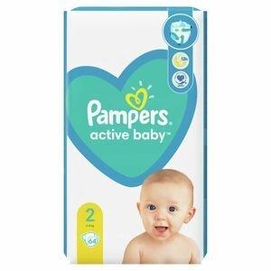 Pampers Active Baby NB S2 64ks(4-8kg)