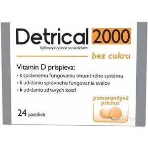 Detrical 2000 Vitamín D s príchuťou pomaranč pastilky 1x24 ks
