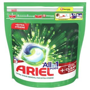 Ariel All in 1 Gelové tablety Extra clean 41ks 41 Praní