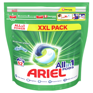 Ariel All in 1 Gelové tablety Mountain Spring 52ks 52 Praní