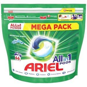 Ariel All in 1 Gelové tablety Mountain Spring 66ks 1×66 tbl, gélové tablety