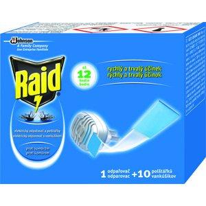 Raid elektrický odparovač s vankúšikmi proti komárom 1 odparovač + 10 vankúšikov