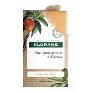 KLORANE SHAMPOOING SOLIDE Á LA MANGUE tuhý šampón s mangom pre suché vlasy 1x80 g