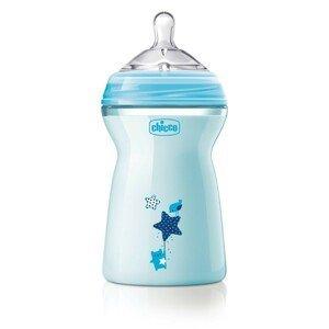 CHICCO Fľaša dojčenská Natural Feeling 330 ml, chlapec 6m+ 330ml