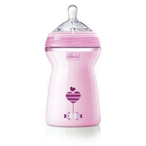 CHICCO Fľaša dojčenská Natural Feeling 330 ml, dievča 6m+ 1×1 ks, dojčenská fľaša 330 ml