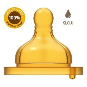 Chicco Cumlík na fľašu Original Touch latex pomalý 1×2 ks, cumlík na fľašu