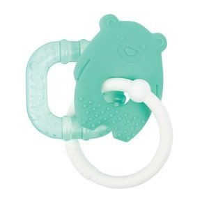 NATTOU Hryzačka silikónová s chladiacou časťou bez BPA zelený macko 1ks