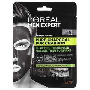 L'Oréal Paris Men Expert Pure Charcoal textliná pleťová maska 30g