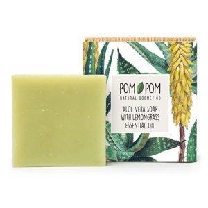 PomPom Aloe vera mydlo s citrónovou trávou 100g
