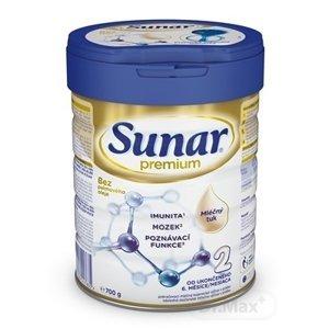 Sunar Premium 2 1x700 g, dojčenské mlieko, od 6. mesiaca