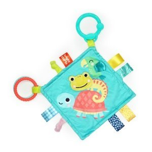 BRIGHT STARTS Dečka maznacia na C krúžku Fuzzy Feelies™ 0m+ 1×1 ks, dečka pre deti