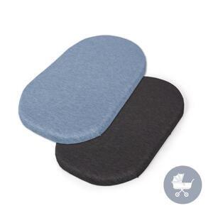 CEBA Plachta do kočíku 73-80 x 30-37 cm 2 ks Dark Grey+Blue 1×2 ks, plachta do kočíku