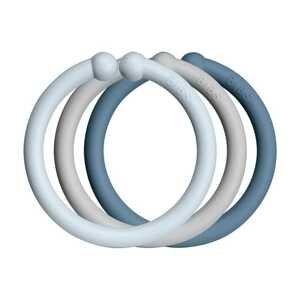 BIBS Loops krúžky baby blue/cloud/petrol 1×12ks