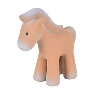 Tikiri Farm - hrkálka a hryzátko z prírodnej gumy koník 1×1 kus, hračka pre deti