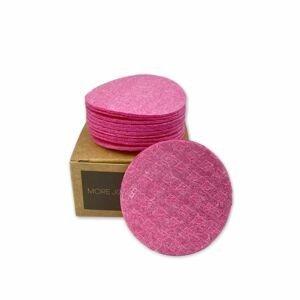 More Joy Kozmetický celulózový támpón ružový 1×12 ks v krabičke
