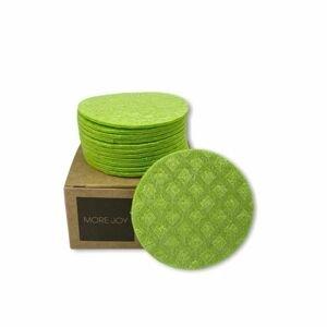 More Joy Kozmetický celulózový támpón zelený 1×12 ks v krabičke