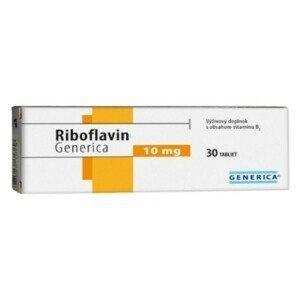 GENERICA Riboflavin 10 mg 30 tabliet