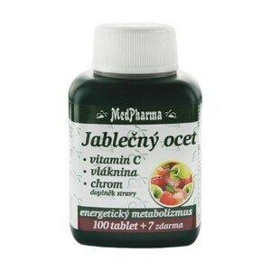 MEDPHARMA Jablčný ocot + vláknina, vitamín C, chróm 100 + 7 tabliet ZADARMO