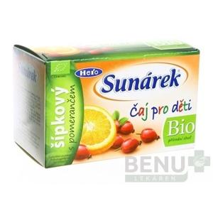 SUNÁREK Detský čaj Bio šípkový s pomarančom 20 x 1,5g