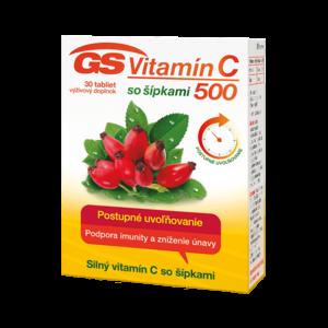 GS Vitamín C 500 so šípkami 30 tabliet