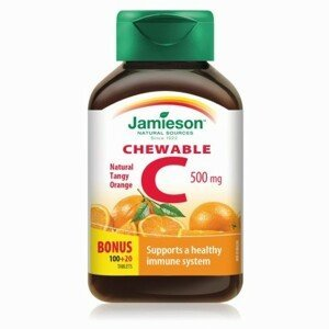 JAMIESON Vitamín C 500 mg s príchuťou pomaranč 120 tabliet