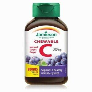 JAMIESON Vitamín C 500 mg hrozno 120 tabliet