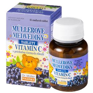 MÜLLEROVE MEDVEDÍKY Vitamín C čierne ríberle 45 tabliet