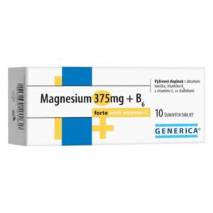 GENERICA Magnesium 375 mg + B6 forte s vitamínom C tbl eff 10