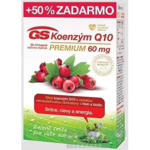 GS Koenzým Q10 60 mg premium 30 + 15 kapsúl ZADARMO