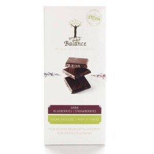 BALANCE Horká čokoláda so sladidlom zo stévie s príchuťou jahoda 85 g