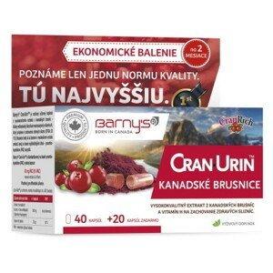 BARNY'S Cran-urin kanadské brusnice 40 + 20 kapsúl ZADARMO