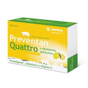 FARMAX Preventan quattro s citrónovou príchuťou 24 tabliet
