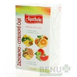 APOTHEKE Premier selection čaj zázvor-citrus zmes 20 x 2 g