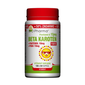 BIO PHARMA Beta karotén 15 mg forte 100 + 50 kapsúl ZADARMO
