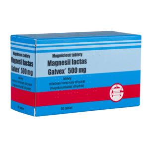 Magnesii lactas Galvex 500 mg (Magnéziové tablety) tbl 80x500mg