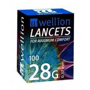 WELLION Lancets 28G - Lanceta sterilná 0,37 mm 100 kusov